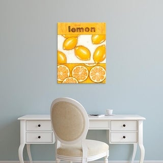 Easy Art Prints Norman Wyatt's 'Lemon' Premium Canvas Art