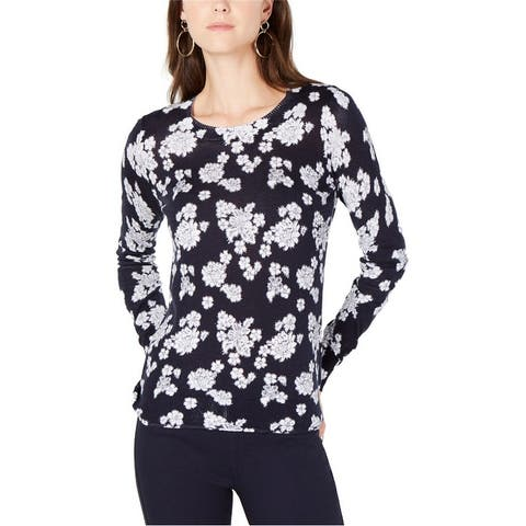 Michael Kors Womens Lace Print Pullover Sweater