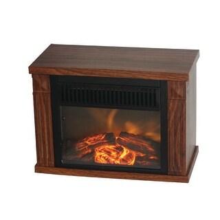 Comfort Glow EMF160 Bookshelf sized Mini Fireplace Heater - Oak