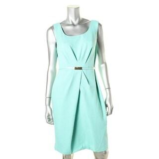 Jones New York Womens Pleated Textured Wear to Work Dress - 8