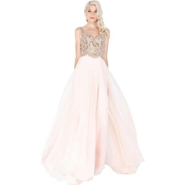 36dae011 Shop Mac Duggal Womens Evening Dress Prom Beaded - On Sale - Free ...