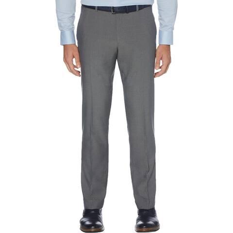 Perry Ellis Portfolio Mens Dress Pants Modern Fit Straight Leg - Alloy