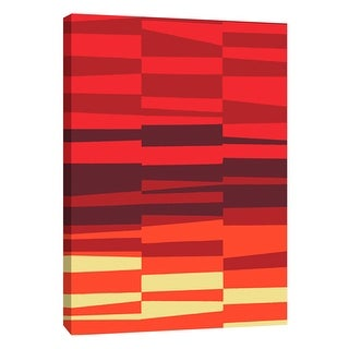 "PTM Images 9-108745  PTM Canvas Collection 10"" x 8"" - ""Monochrome Patterns 7 in Red"" Giclee Abstract Art Print on Canvas"
