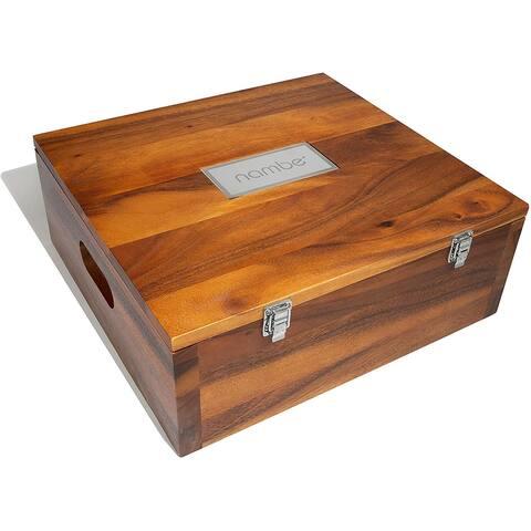 Nambe Mini Nativity Storage Box - Brown