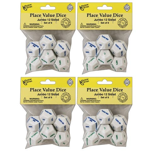 Koplow games (4 st) 12-sided place value dice 13212bn