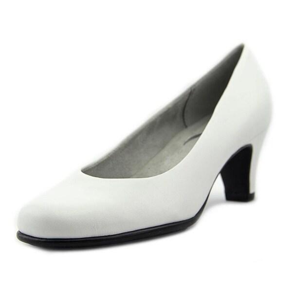 Aerosoles Nice Play Women Round Toe Leather White Heels