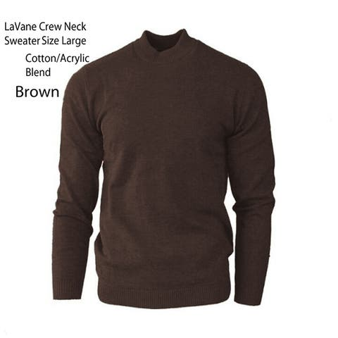 LaVane Men's Sweater Size Large, Brown