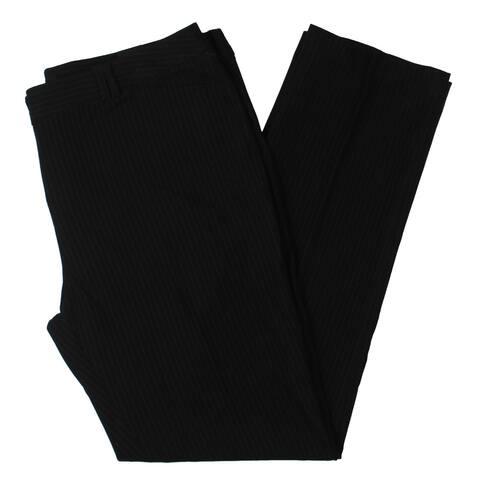 Amanda + Chelsea Womens Dress Pants Double Loop Pinstriped