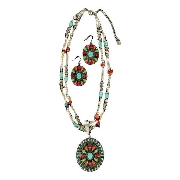 Blazin Roxx Jewelry Womens Necklace Earrings Strands Mufti-Color 30664