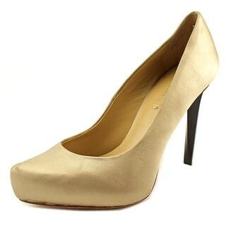 BCBG Max Azria Skyla   Round Toe Canvas  Heels