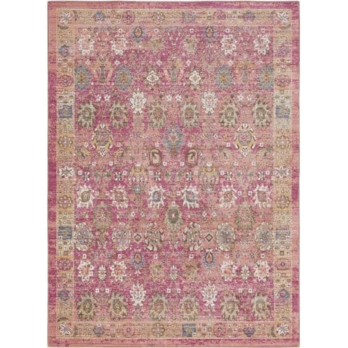 Surya GER2326-211710 Germili 3' x 8' Runner Synthetic Power Loomed Traditional A - Pink