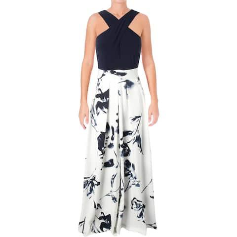 Lauren Ralph Lauren Womens Semi-Formal Dress Floral Print Sleeveless