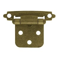 "Liberty Hardware H0103BL-AB-U Self-Closing Overlay Hinge 3/8"", Antique Brass"
