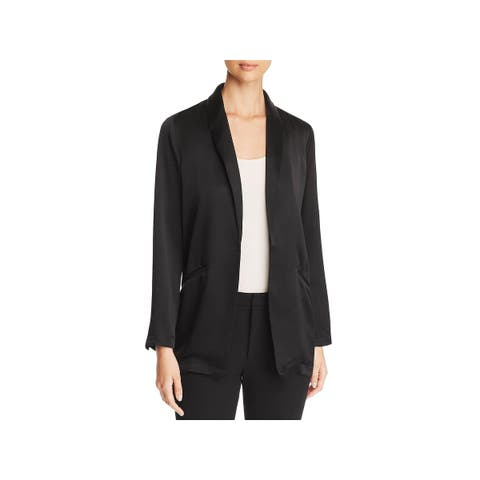 Eileen Fisher Womens Blazer Silk Open Front