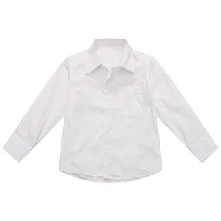 Richie House Boys' Classic White Shirt with Lapel Collar