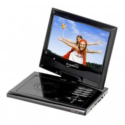 Supersonic SC-179DVD 9 in. Portable DVD Player with Swivel Display