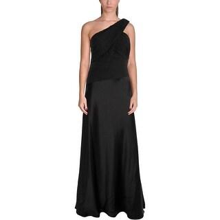 Lauren Ralph Lauren Womens Evening Dress Satin Pleated