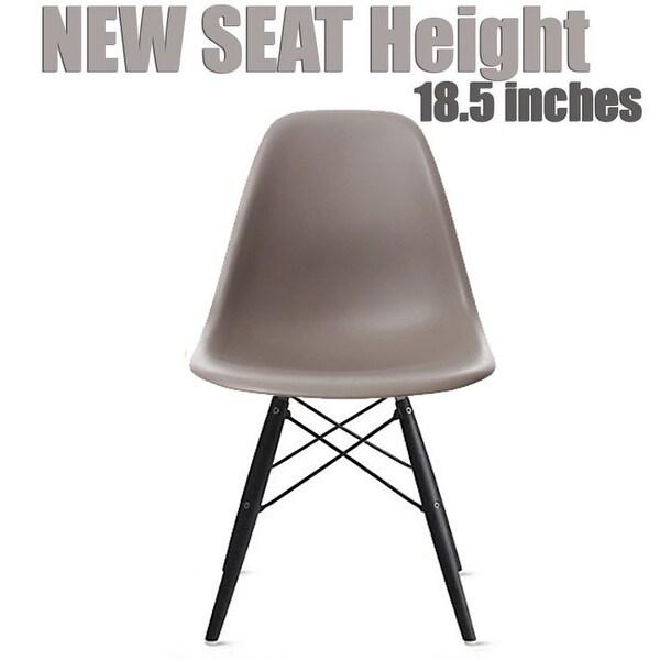 2xhome Modern Side Dining Chair Grey with Dark Black Wood Legs
