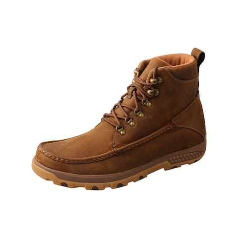 """Twisted X Outdoor Boots Mens 6"""" Driving Leather Saddle"""