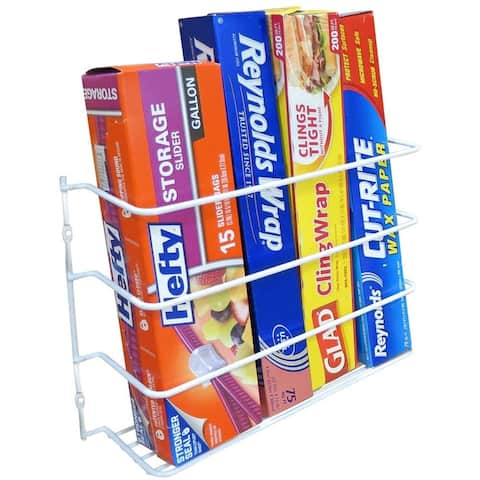 Evelots Wrap/Foil Organizer Rack-Kitchen Cabinet Door-Wall-New/Improved