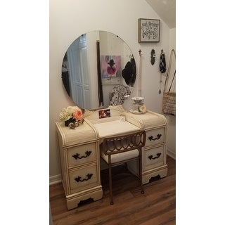 Hillsdale Canal Street Vanity Stool Free Shipping Today