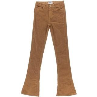 Paige Womens Lou Lou Corduroy High Rise Flare Jeans