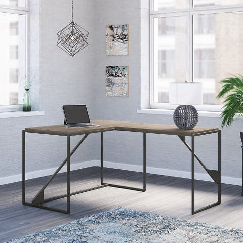 Refinery 50W L Shaped Industrial Desk by Bush Furniture