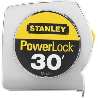 "Stanley 33-430 Powerlock Tape Rule, 1"" x 30'"