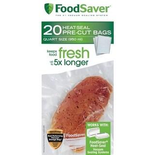 "Foodsaver FSFSBF0216-000 Pre Cut Vacuum Sealer Bags, 8"" x 11"""