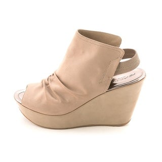 Kenneth Cole Reaction Sole Search Open Toe Suede Wedge Heel