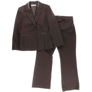Tahari ASL Womens Sal Faux Trim Long Sleeves Pant Suit - 16
