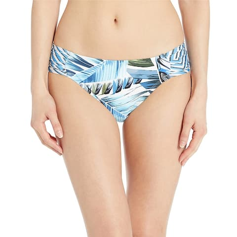 La Blanca Women's Side Shirred Hipster Bikini Bottom, Blue//Two Cool, 14
