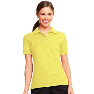 Hanes X-Temp® Women's Polo - Size - S - Color - Neon Lemon Heather
