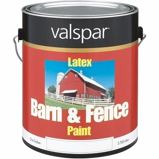 Valspar Ltx Flat Red Barn Paint