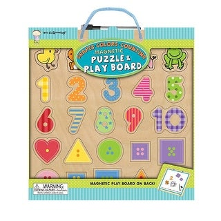 Shapes Colors Counting Magnetic 25 Piece Puzzle and Pl