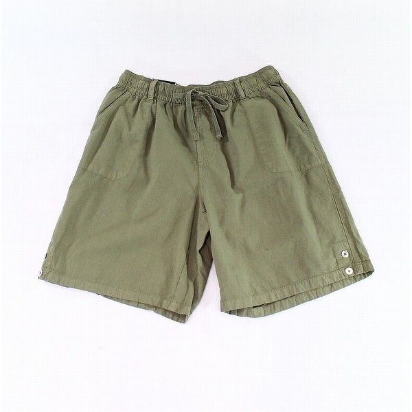 d6ce3c647f Shop Karen Scott Green Womens Size XS Drawstring-Waist Casual Shorts - Free  Shipping On Orders Over $45 - Overstock - 28257716
