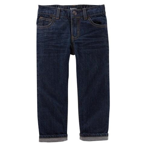 OshKosh B'gosh Little Boys' Microfleece-Lined Jeans, True Rinse Wash, 3 Toddler