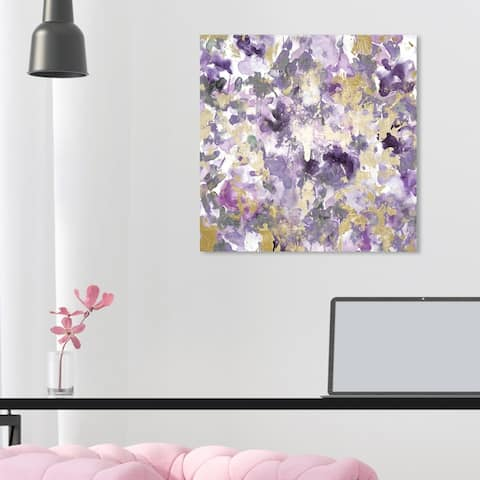 Oliver Gal 'Wilderness Amethyst' Abstract Wall Art Canvas Print Paint - Purple, Gold