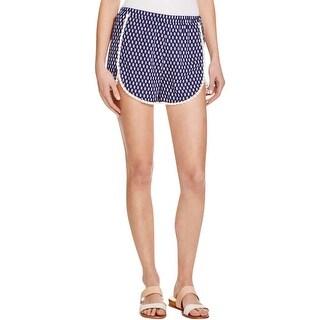 Aqua Womens Casual Shorts Chiffon Printed
