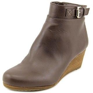 Dr. Scholl's Daina Women Open Toe Synthetic Brown Wedge Heel