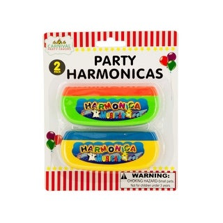 Party Harmonicas Set - Pack of 24