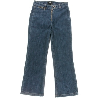 Paige Womens Milo High Rise Cropped Flare Jeans