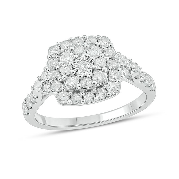 Cali Trove 10KT White Gold with 1 ct TDW Fashion Ring.. Opens flyout.