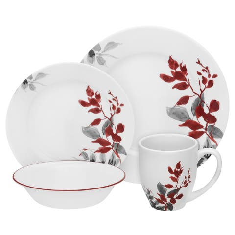Corelle Boutique Round Kyoto Leaves 32 Piece Set