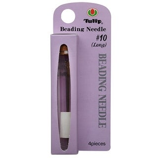 Link to Tulip Beading Needles Size 10 (Long) 51x0.46mm - 4 Pack Similar Items in Jewelry & Beading