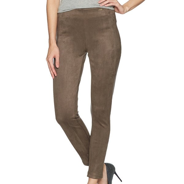 15600c5f68b82 Shop Ivanka Trump Brown Women's Size XL Faux Suade Legging Dress Pants -  Free Shipping On Orders Over $45 - Overstock - 21903426
