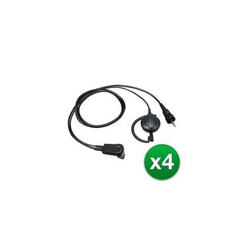 Kenwood EMC13W Clip mic with earphone (4-Pack) Kenwood EMC-13W Clip mic with earphone