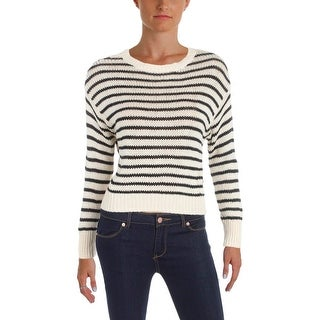 Denim & Supply Ralph Lauren Womens Pullover Sweater Ribbed Knit Striped
