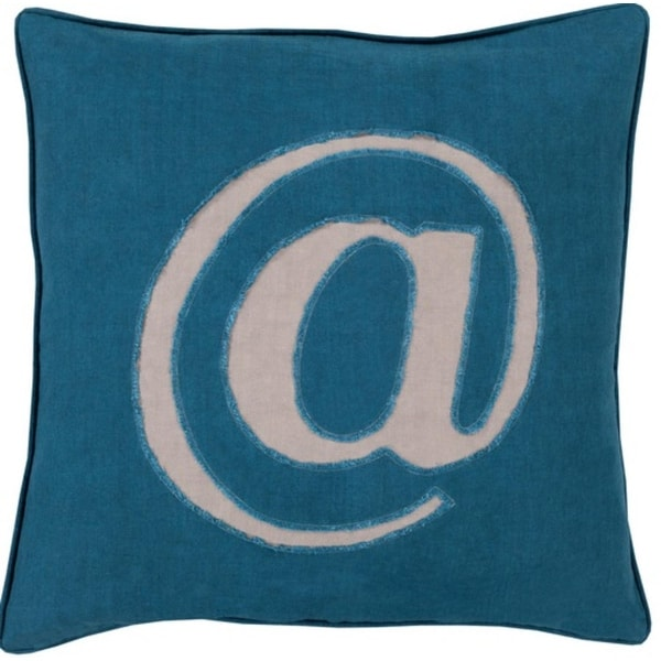 "18"" Teal Blue and Mist Gray Trending Decorative @ Novelty Throw Pillow"