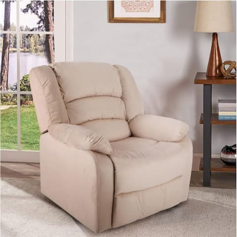 Moda Home Recliner Chair Overstuffed Manual Recliner Pillow Top Arm Sofa